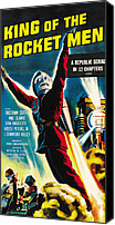 1949 Movies Canvas Prints - King Of The Rocket Men, Poster Art, 1949 Canvas Print by Everett