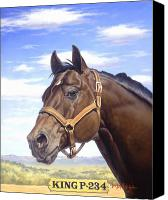 "\\\""texas Artist\\\\\\\"" Canvas Prints - King P234 Canvas Print by Howard Dubois"