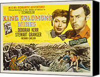 1950s Movies Canvas Prints - King Solomons Mines, Deborah Kerr Canvas Print by Everett