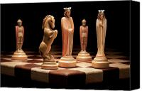 Chess Set Canvas Prints - Kings Court I Canvas Print by Tom Mc Nemar