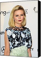 Black Tie Photo Canvas Prints - Kirsten Dunst Wearing A Rodarte Dress Canvas Print by Everett