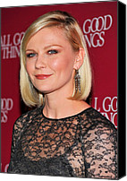 Dangly Earrings Canvas Prints - Kirsten Dunst  Wearing Fred Leighton Canvas Print by Everett