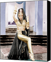 Gold Lame Canvas Prints - Kismet, Marlene Dietrich, 1944 Canvas Print by Everett