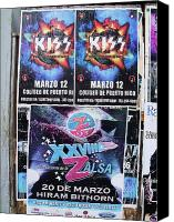 Anna Villarreal Garbis Canvas Prints - Kiss Concert San Juan Canvas Print by Anna Villarreal Garbis