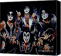 Music Photo Canvas Prints - Kiss Canvas Print by Paul Ward