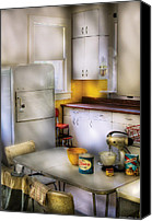 1960 Canvas Prints - Kitchen - A 1960s Kitchen  Canvas Print by Mike Savad