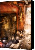 Pans Canvas Prints - Kitchen -  Colonial Kitchen II Canvas Print by Mike Savad