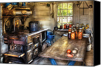 Colonial Kitchen Canvas Prints - Kitchen - Home Country Kitchen  Canvas Print by Mike Savad