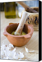 Olive Oil Canvas Prints - Kitchen still life Canvas Print by Frank Tschakert