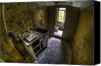 Poverty Canvas Prints - Kitchen with a loo Canvas Print by Nathan Wright