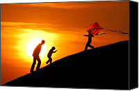 Childs Canvas Prints - Kite Canvas Print by Okan YILMAZ