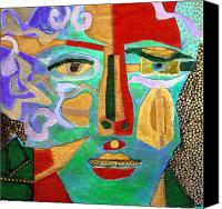 Diane Fine Canvas Prints - Klimt Face Canvas Print by Diane Fine