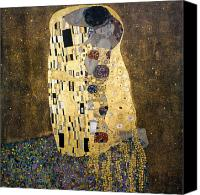 Austrian Canvas Prints - Klimt: The Kiss, 1907-08 Canvas Print by Granger