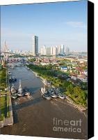 Riverside Canvas Prints - Klong Lad Po Canvas Print by Atiketta Sangasaeng