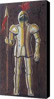 Gold Glove Canvas Prints - Knight Canvas Print by Dina Day