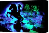 Chess Piece Canvas Prints - Knight Moves Canvas Print by Barbara  White