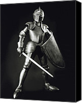 Armor Canvas Prints - Knight Canvas Print by Tony Cordoza