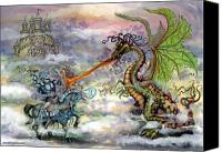 Fairytale Canvas Prints - Knights n Dragons Canvas Print by Kevin Middleton
