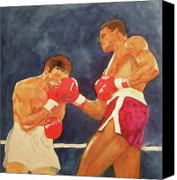 Match Painting Canvas Prints - Knockout Punch Canvas Print by Nigel Wynter