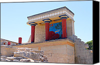 Fresco Canvas Prints - Knossos North Gate view Canvas Print by Paul Cowan