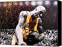 Paint Canvas Prints - Kobe Canvas Print by Bobby Zeik