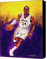 Los Angeles Lakers Canvas Prints - Kobe  Canvas Print by Brian Child