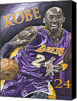 David Courson Canvas Prints - Kobe Bryant Canvas Print by David Courson