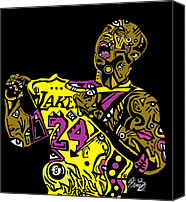 Popstract Canvas Prints - Kobe Bryant full color Canvas Print by Kamoni Khem