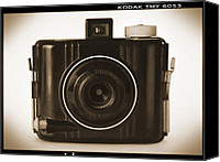 Film Camera Canvas Prints - Kodak Baby Brownie Canvas Print by Mike McGlothlen
