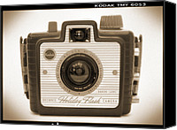 Film Camera Canvas Prints - Kodak Brownie Holiday Flash Canvas Print by Mike McGlothlen