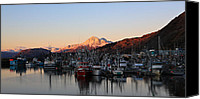 Kodiak Canvas Prints - Kodiak Boat Harbor Canvas Print by Sam Amato