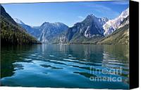 Bavarian Canvas Prints - Koenigssee Canvas Print by Nailia Schwarz