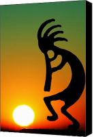 American Canvas Prints - Kokopelli Canvas Print by Mitch Cat