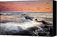Jetty Canvas Prints - Koloa Dusk Canvas Print by Mike  Dawson