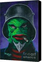 Spook Canvas Prints - Kreetcha Canvas Print by Ben Von Strawn
