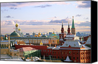 Cloud Glass Canvas Prints - Kremlin, Moscow, Russia Canvas Print by Lars Ruecker