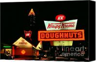 Photographers Atlanta Canvas Prints - Krispy Kreme Doughnuts Atlanta Canvas Print by Corky Willis Atlanta Photography
