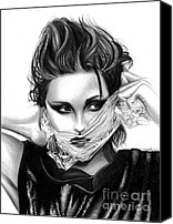Kristen Stewart Canvas Prints - Kristen Stewart 2 Canvas Print by Crystal Rosene