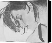 Kristen Stewart Canvas Prints - Kristen Stewart Canvas Print by Maria Johnson