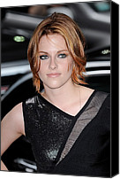 Kristen Stewart Canvas Prints - Kristen Stewart, Visits The Late Show Canvas Print by Everett