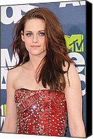Kristen Stewart Canvas Prints - Kristen Stewart Wearing A Balmain Dress Canvas Print by Everett