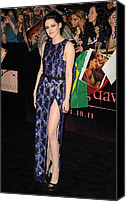 Nokia Theatre Canvas Prints - Kristen Stewart Wearing A J. Mendel Canvas Print by Everett