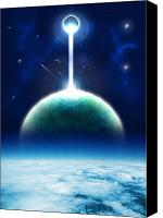 Space Art Drawings Canvas Prints - Krypton wars Canvas Print by Andreas  Leonidou