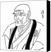 Portrait Woodblock Canvas Prints - Kyokutei Bakin (1767-1848) Canvas Print by Granger