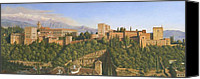 Art For Sale Painting Canvas Prints - La Alhambra Granada Spain Canvas Print by Richard Harpum