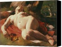 Asleep Painting Canvas Prints - La Bacchante Canvas Print by Gustave Courbet