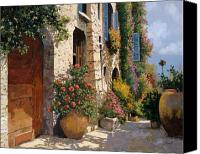 Door Canvas Prints - La Bella Strada Canvas Print by Guido Borelli
