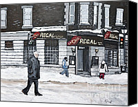 Montreal Street Life Canvas Prints - La Chic Regal Pointe St. Charles Canvas Print by Reb Frost