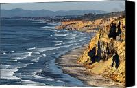 Blacks Canvas Prints - La Jolla Cliffs Over Blacks Canvas Print by Russ Harris