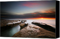 Long Canvas Prints - La Jolla Reef Sunset 7 Canvas Print by Larry Marshall